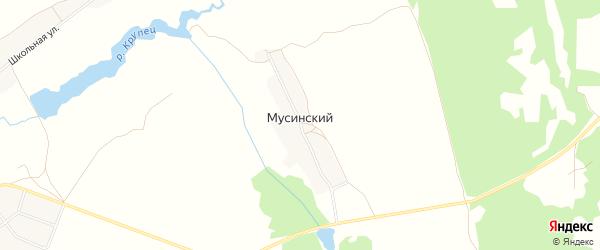 Карта Мусинского поселка в Брянской области с улицами и номерами домов