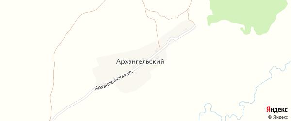 Архангельская улица на карте Архангельского поселка с номерами домов