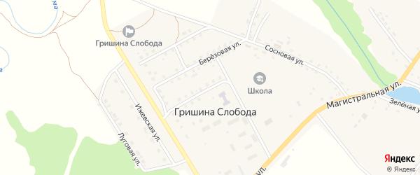Молодежная улица на карте деревни Гришиной Слободы с номерами домов