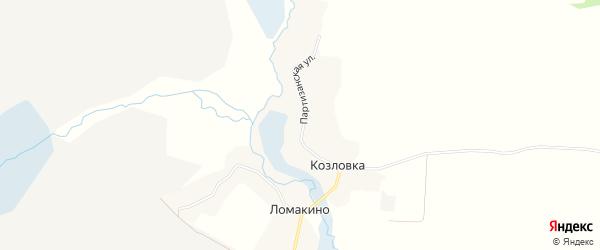 Карта деревни Козловки в Брянской области с улицами и номерами домов