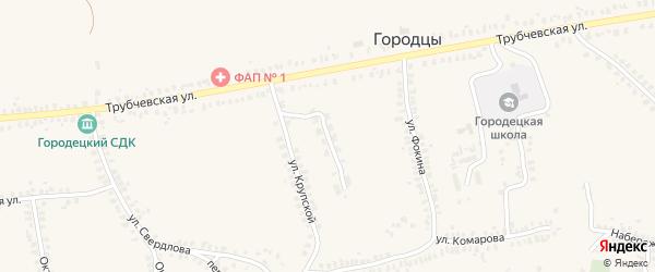 Олимпийская улица на карте деревни Городцы с номерами домов