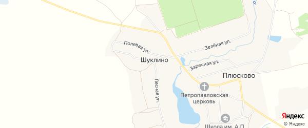 Карта деревни Шуклино в Брянской области с улицами и номерами домов