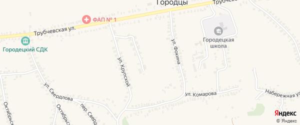 Набережный переулок на карте деревни Городцы с номерами домов