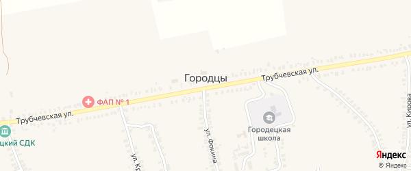 Полевая улица на карте деревни Городцы с номерами домов