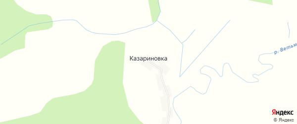 Карта деревни Казариновки в Брянской области с улицами и номерами домов
