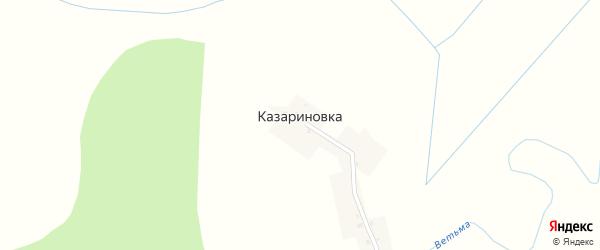 Речная улица на карте деревни Казариновки с номерами домов