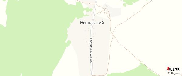 Партизанская улица на карте Никольского хутора с номерами домов