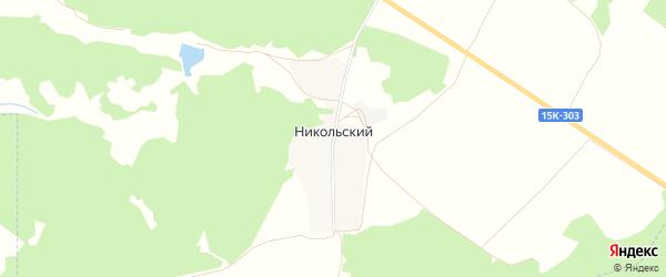 Карта Никольского хутора в Брянской области с улицами и номерами домов