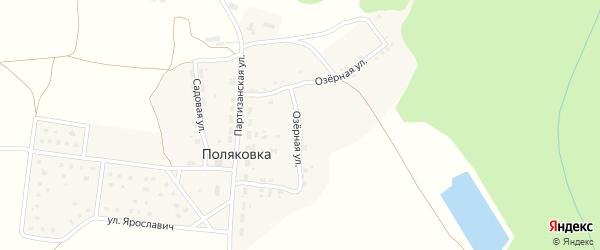 Озерная улица на карте хутора Поляковки с номерами домов