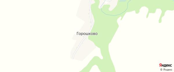 Садовая улица на карте деревни Горошково с номерами домов