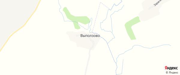 Карта деревни Выползово в Брянской области с улицами и номерами домов