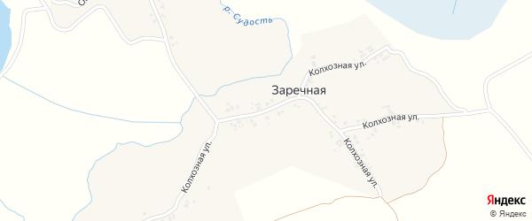 Колхозная улица на карте Заречной деревни с номерами домов
