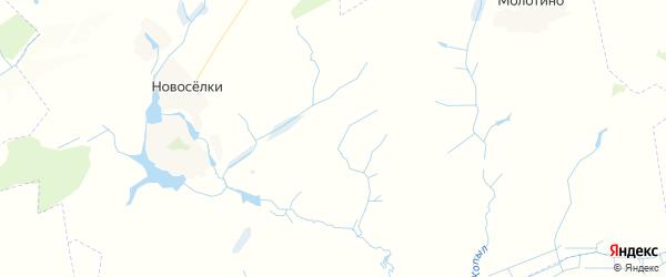 Карта территории Новосельского сельского поселения Брянской области с районами, улицами и номерами домов