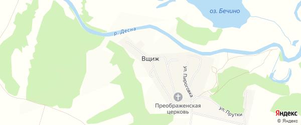 Карта села Вщижа в Брянской области с улицами и номерами домов