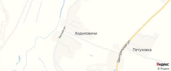 Карта деревни Ходиловичи в Брянской области с улицами и номерами домов