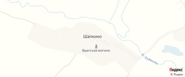 Нагорная улица на карте деревни Шапкино с номерами домов