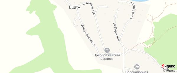 Владимирская улица на карте села Вщижа с номерами домов