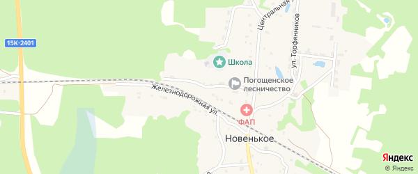5-й Центральный переулок на карте поселка Новенького с номерами домов