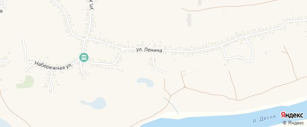 Переулок Ленина на карте деревни Городцы с номерами домов