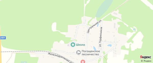 Школьная улица на карте поселка Новенького с номерами домов