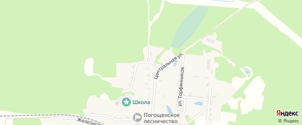 6-й Центральный переулок на карте поселка Новенького с номерами домов