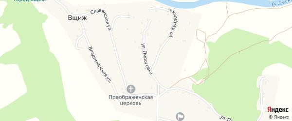 Улица Пироговка на карте села Вщижа с номерами домов