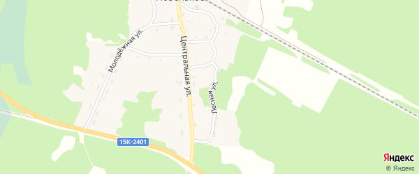 Лесная улица на карте поселка Новенького с номерами домов