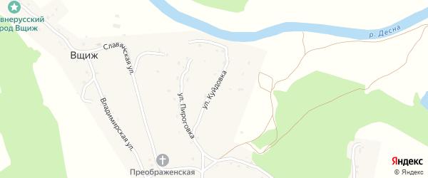 Улица Куйдовка на карте села Вщижа с номерами домов