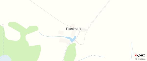 Карта деревни Приютино в Брянской области с улицами и номерами домов