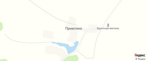Приютинская улица на карте деревни Приютино с номерами домов