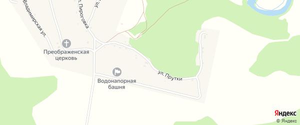 Улица Прутки на карте села Вщижа с номерами домов