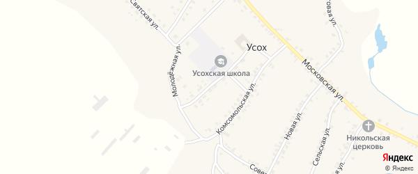 Молодежная улица на карте села Усоха с номерами домов