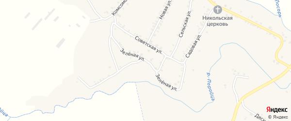Зеленая улица на карте села Усоха с номерами домов