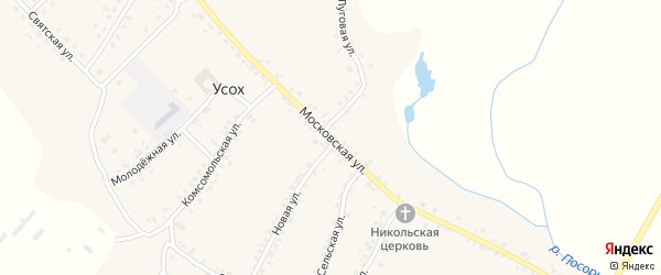 Московская улица на карте села Усоха с номерами домов