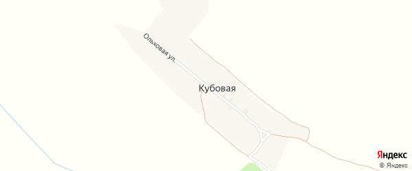 Ольховая улица на карте поселка Кубовой с номерами домов