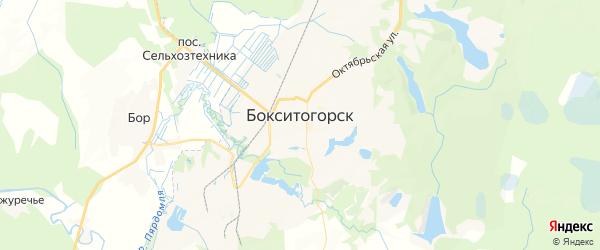 Карта Бокситогорска с районами, улицами и номерами домов: Бокситогорск на карте России