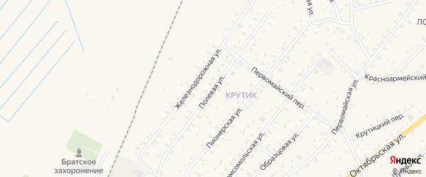 Полевая улица на карте Бокситогорска с номерами домов