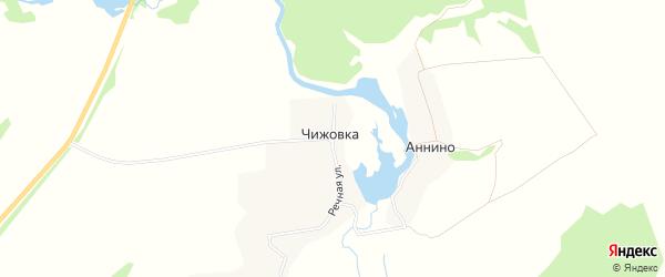 Карта деревни Чижовки в Брянской области с улицами и номерами домов