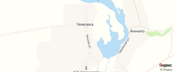 Речная улица на карте деревни Чижовки с номерами домов