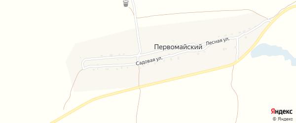 Садовая улица на карте Первомайского поселка с номерами домов