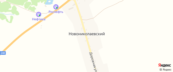 Дорожная улица на карте Новониколаевского поселка с номерами домов