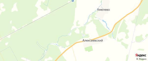 Карта территории Хмелевского сельского поселения Брянской области с районами, улицами и номерами домов