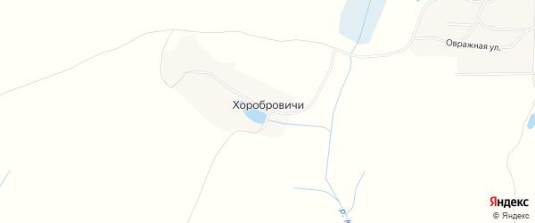 Карта деревни Хоробровичей в Брянской области с улицами и номерами домов