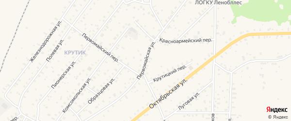 Первомайская улица на карте Бокситогорска с номерами домов