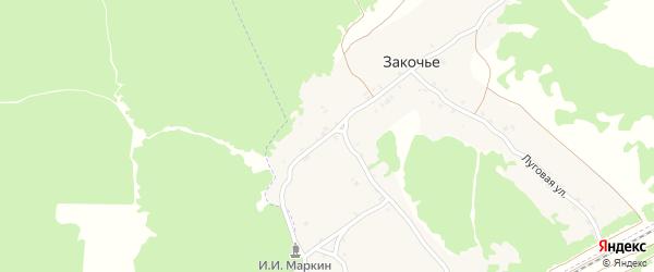 Лесная улица на карте поселка Закочья с номерами домов