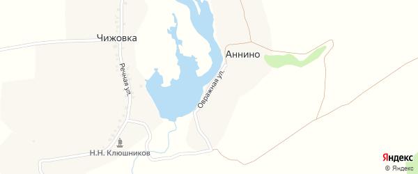Овражная улица на карте деревни Аннино с номерами домов