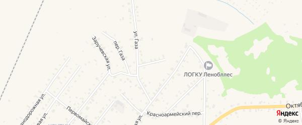 Газа 2-й переулок на карте Бокситогорска с номерами домов