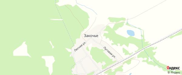 Карта поселка Закочья в Брянской области с улицами и номерами домов