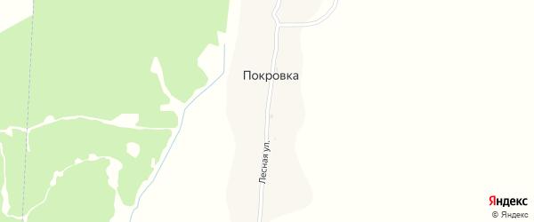 Лесная улица на карте поселка Покровки с номерами домов