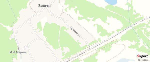 Луговая улица на карте поселка Закочья с номерами домов